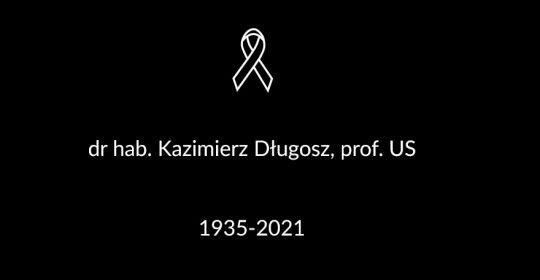 Zmarł dr hab. Kazimierz Długosz, prof. US