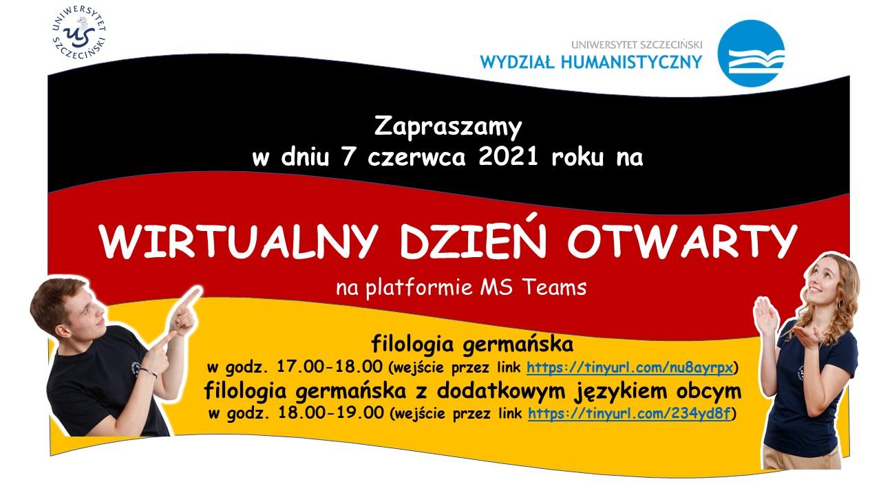 Dzień Otwarty dla kandydatów na kierunki filologia germańska oraz filologia germańska z dodatkowym językiem obcym